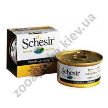 Schesir Cat Tuna Surimi - консервы Шезир тунец с сурими для кошек, банка
