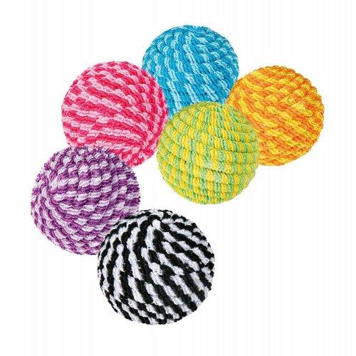 Trixie - спиральные мячики Трикси из нейлона для кошек