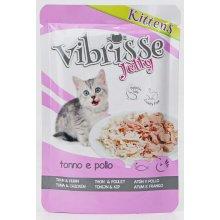 Vibrisse Jelly Kittens - консервы Вибриссе тунец и курица в желе для котят