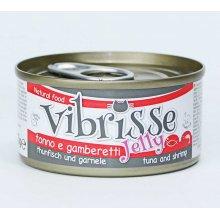 Vibrisse Jelly - консервы Вибриссе тунец и креветки в желе для кошек
