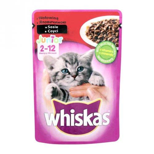 Whiskas - корм Вискас с говядиной в соусе для котят