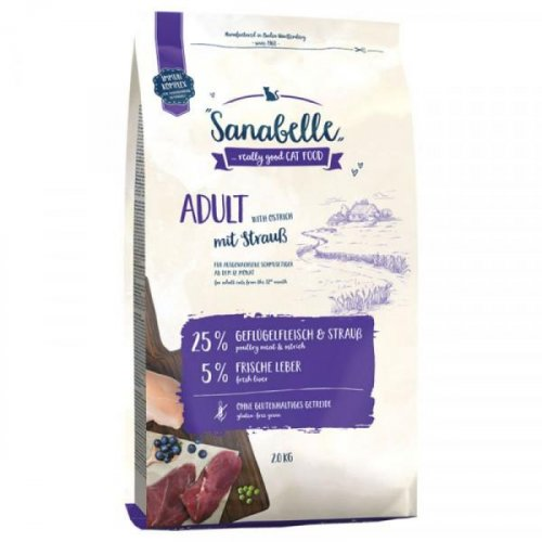 Bosch Sanabelle Adult Ostrich - корм Бош Санабель с мясом страуса для взрослых кошек