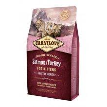 CarniLove Kitten - корм Карнилав с лососем и индейкой для котят