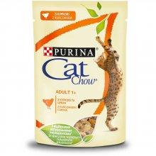 Cat Chow - консервы Кэт Чау с курицей и цуккини в желе для кошек