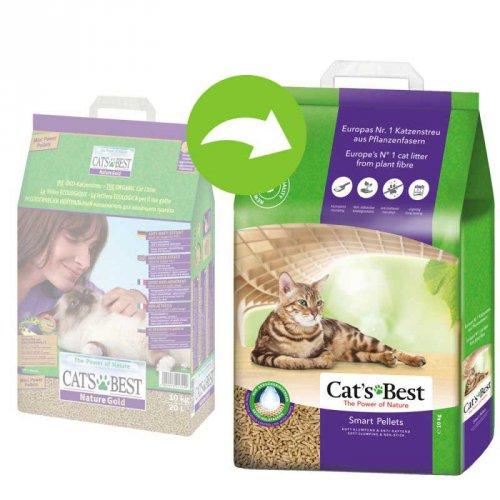 Cats Best Smart Pellets (Nature Gold) - гигиенический наполнитель Кетс Бест для кошек