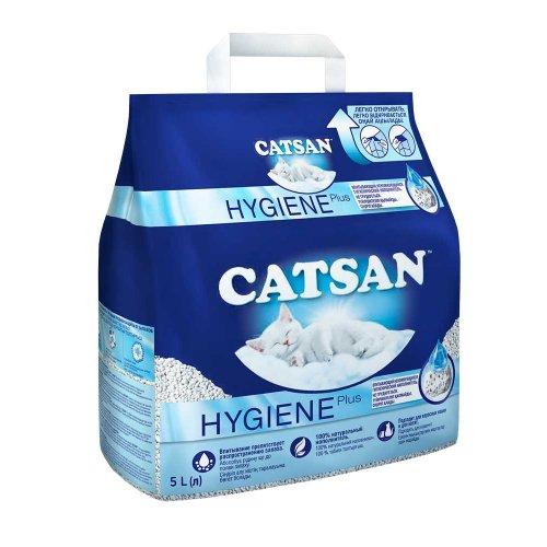 Catsan Hygiene - впитывающий наполнитель Кэтсан для кошачьего туалета