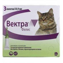 Vectra Felis - капли Вектра Фелис от блох для кошек