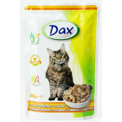 Dax - консервы Дакс с курицей для кошек