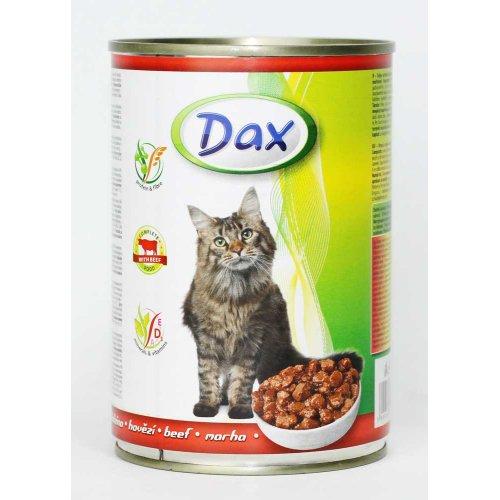 Dax - полноценный корм с говядиной Дакс для кошек