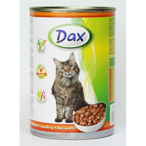 Dax - полноценный корм Дакс с курицей для кошек