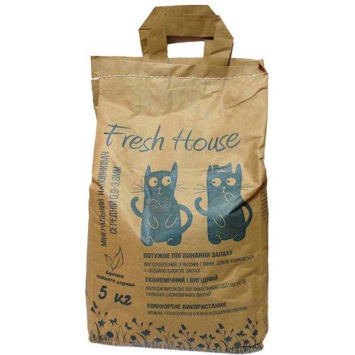 Fresh House - бентонитовый наполнитель Фреш Хаус (синий)