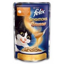 Felix Sensation - консервы Феликс с индейкой и беконом в соусе