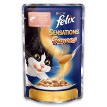 Felix Sensation - консервы Феликс с лососем и креветками в соусе