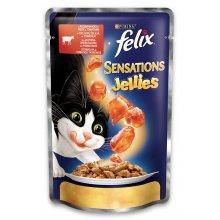 Felix Sensation - консервы Феликс с говядиной и томатами в желе