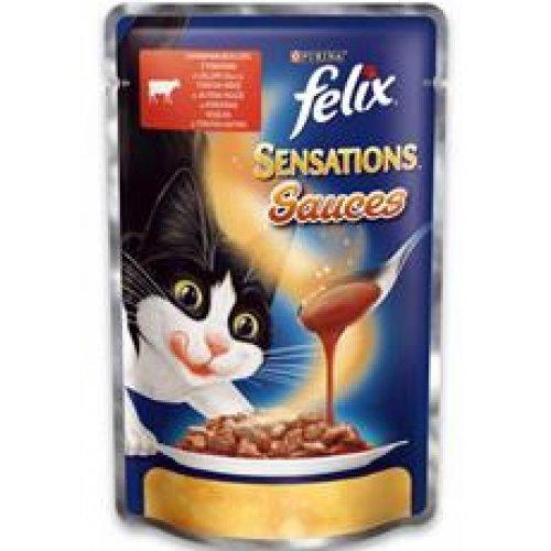 Felix Sensation - консервы Феликс с говядиной и томатами в соусе
