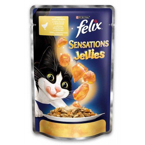Felix Sensation - консервы Феликс с курицей и морковью в желе