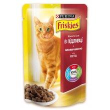 Friskies - корм Фрискас с говядиной в подливке для кошек