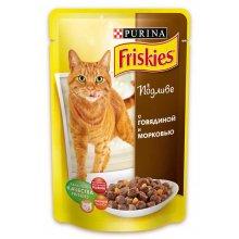 Friskies - корм Фрискас для взрослых кошек с говядиной и морковкой в подливке