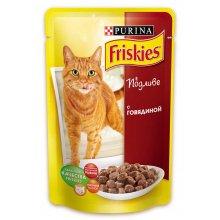 Friskies - корм Фрискас с говядиной в подливке, для взрослых кошек