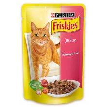 Friskies - корм Фрискас для взрослых кошек, с говядиной в желе