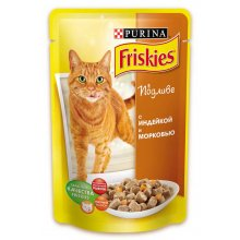 Friskies - корм Фрискас для взрослых кошек с индейкой и морковью в подливке