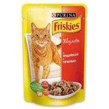 Friskies - корм с индейкой и печенью Фрискас для взрослых кошек