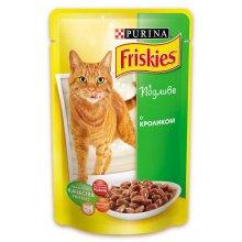 Friskies - корм Фрискас для взрослых кошек с кроликом в подливке