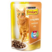 Friskies - корм Фрискас с курицей в подливке для кошек