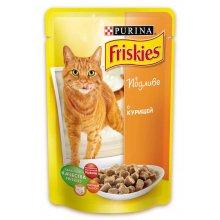 Friskies - корм Фрискас для взрослых кошек с курицей в подливе