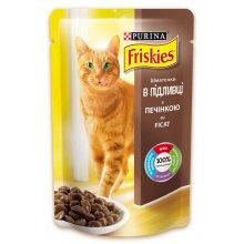Friskies - корм Фрискас с печенью в подливке для кошек