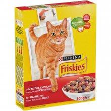 Friskies - Корм Фрискас для взрослых кошек с мясом, печенью и курицей