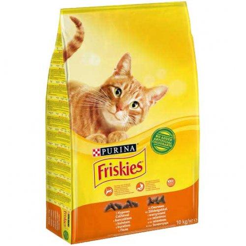 Friskies - Корм Фрискас для взрослых кошек с курицей и овощами