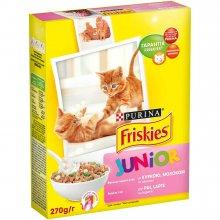 Friskies - Корм Фрискас для котят с курицей, морковью и молоком