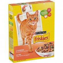 Friskies - Корм Фрискас для взрослых кошек с курицей и зелеными овощами