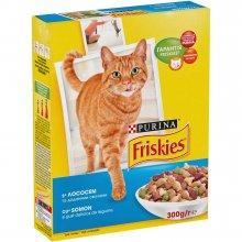 Friskies - корм Фрискас для взрослых кошек с лососем и овощами