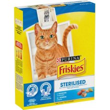 Friskies Sterilised - корм Фрискас для стерилизованных кошек с лососем и овощами