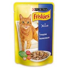 Friskies - корм Фрискас для взрослых кошек с тунцом и морковкой в желе