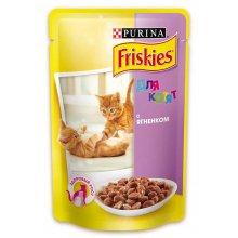 Friskies - корм Фрискас для котят, с ягненком в подливке