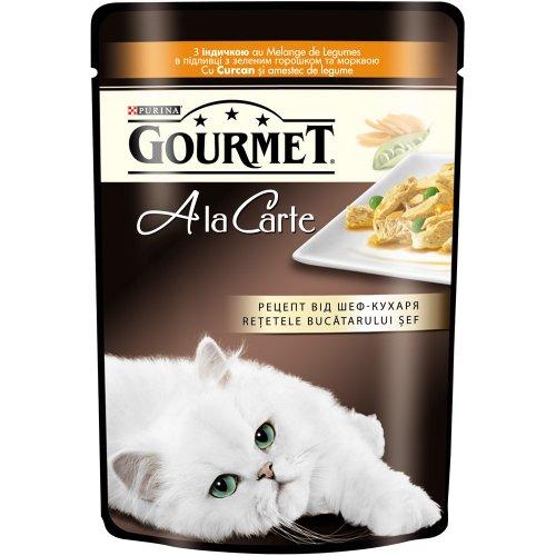 Gourmet Ala Carte - корм Гурмет с индейкой в подливке