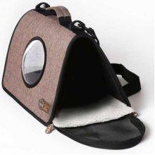 K and H Chocolate Lookout - сумка шоколадного цвета для кошек и собак