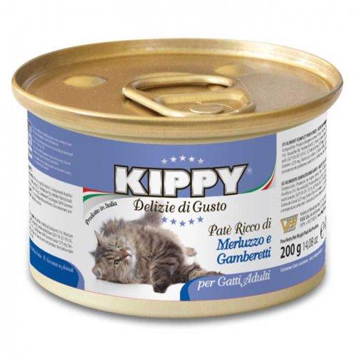 Kippy - паштет Киппи из трески и креветок для кошек