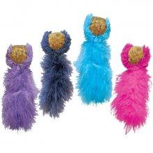 Kong Cork Balls - мячик с перьями Конг для кошек