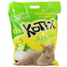 Kotix Aroma - силикагелевый наполнитель Котикс с ароматом яблока