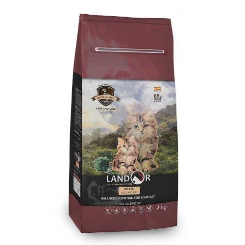 Landor Kitten - сухой корм Ландор с уткой и рисом для котят