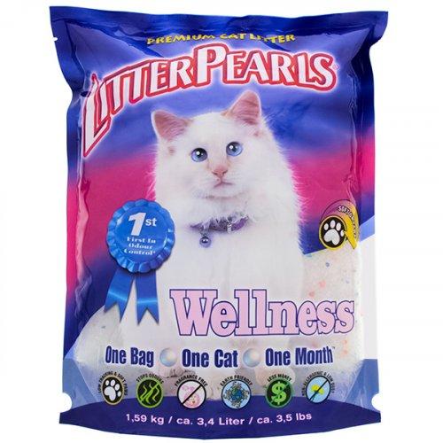Crystal Pearls Wellness - кварцевый наполнитель Кристал Перлс для кошачьих туалетов