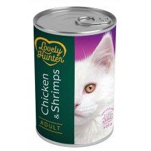 Lovely Hunter - консервы Лавли Хантер с курицей и креветками для кошек