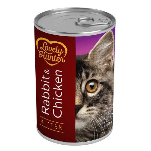 Lovely Hunter Kitten Rabbit & Chicken консервы Лавли Хантер с кроликом и курицей для котят