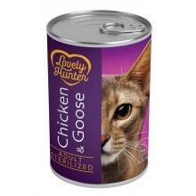Lovely Hunter Sterilized - консервы Лавли Хантер с курицей и гусем для стерилизованных кошек