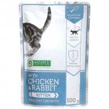 Natures Protection Kitten Chicken and Rabbit - консервы Нейчерс Протекшн курица и кролик для котят