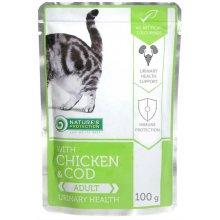 Natures Protection Urinary Health Chicken and Cod - консервы Нейчерс Протекшн для кошек